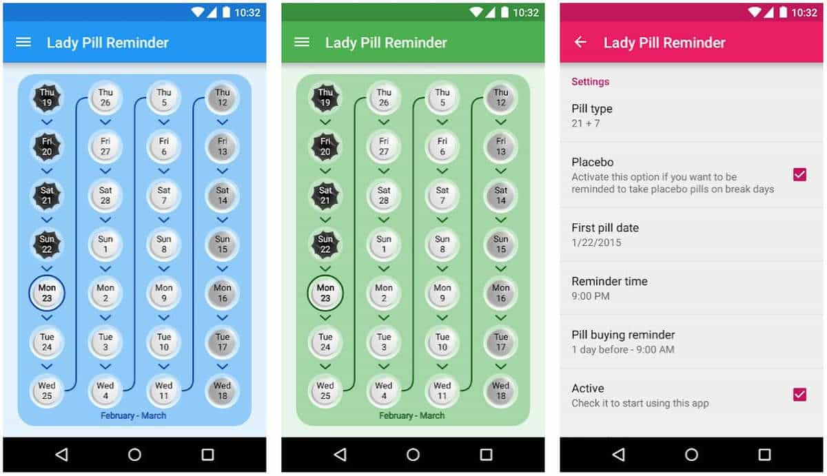 Lady Pill Reminder | Best To-do List And Reminder Apps For Android And iOS | Best Reminder App | best reminder app for iphone