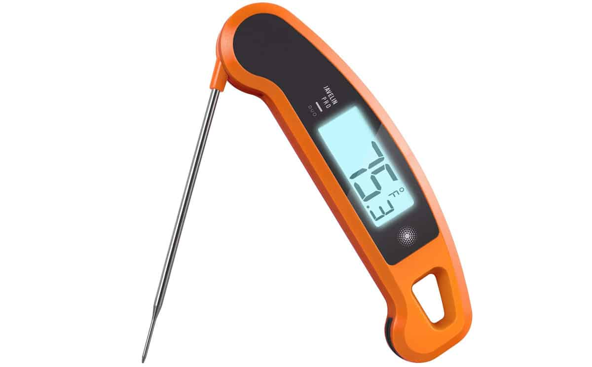 Lavatools Javelin PRO Duo Ambidextrous Backlit Instant Read Digital Meat Thermometer | Top Digital Meat Thermometers For Grilling The Perfect Steak | remote meat thermometer