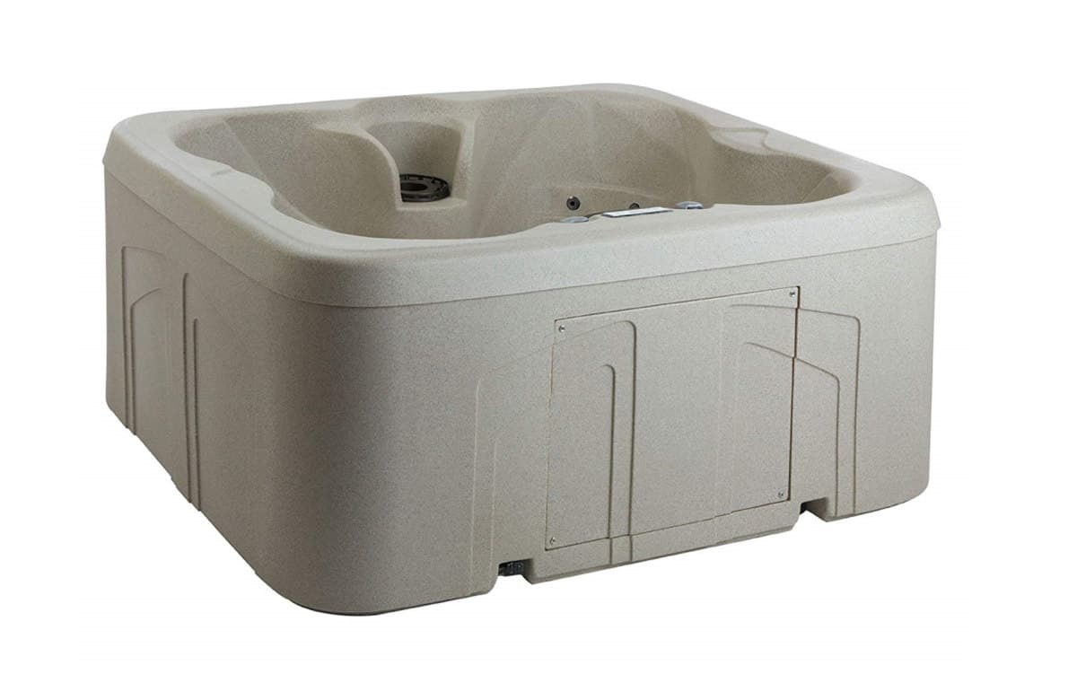 Lifesmart Rock Solid Simplicity Plug and Play 4 Person Hot Tub Spa | Best Amazon Outdoor Hot Tub | outdoor hot tub cost
