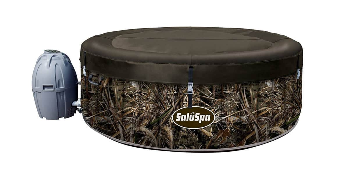 Realtree SaluSpa MAX-5 AirJet 4 Person Portable Inflatable Hot Tub Spa | Best Amazon Outdoor Hot Tub | two person outdoor hot tub