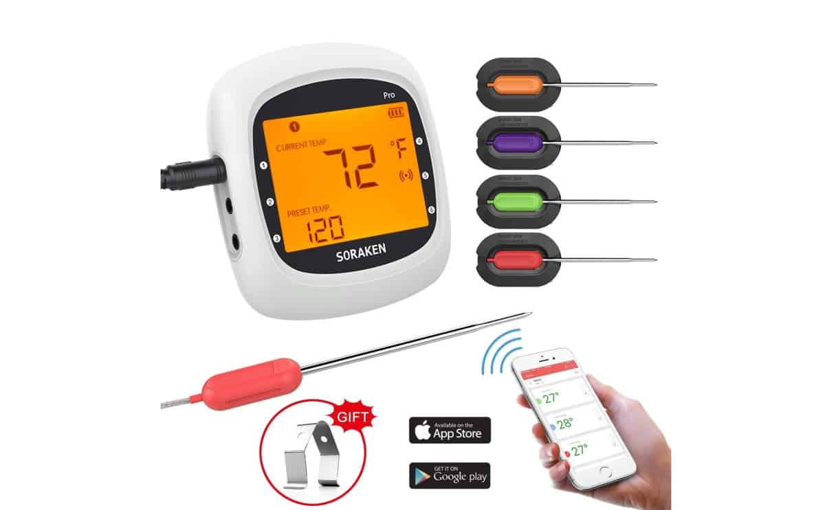 Wireless Meat Thermometer for Grilling | Top Digital Meat Thermometers For Grilling The Perfect Steak | best wireless meat thermometer