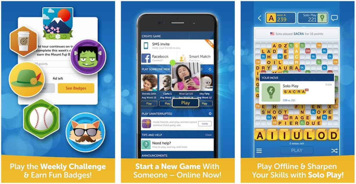 Words With Friends | Top Tablet Games For Seniors and The Elderly | games for seniors