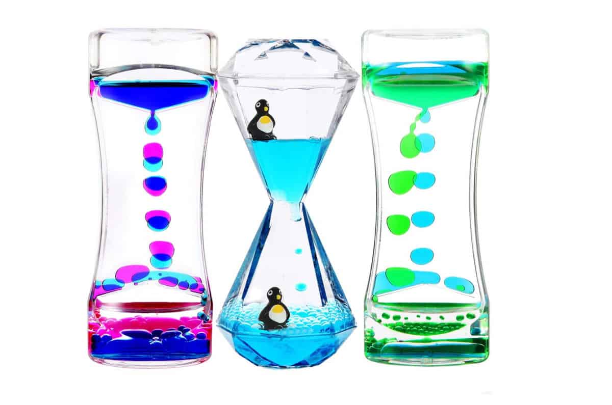 YUE ACTION Liquid Motion Bubbler Timer for Sensory Toys | Cool Fidget Toys And Gadgets That Are Worth Buying | fidget gadgets