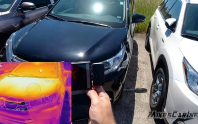 FLIR ONE thermal camera - black car vs. white car