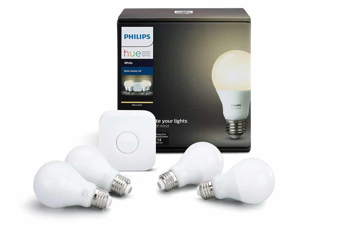 Philips Hue White A19 60W Equivalent LED Smart Bulb | Alexa-Compatible Home Gadgets To Automate Your Home | home tech gadgets