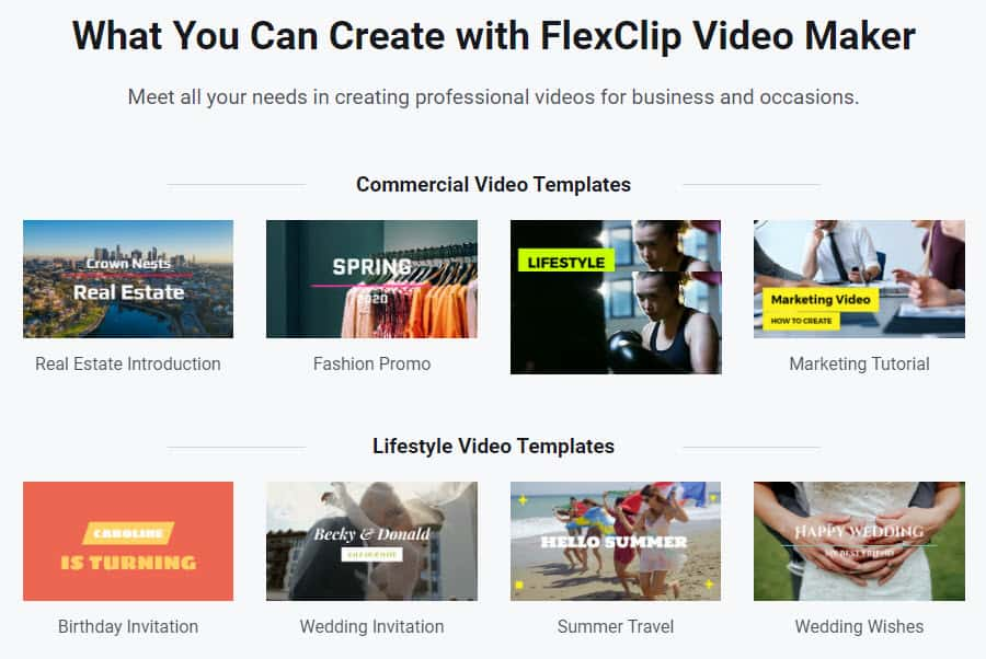 FlexClip Video Templates
