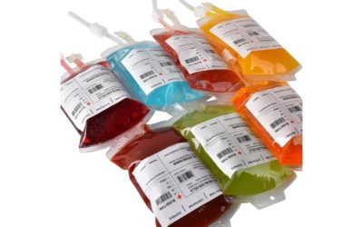 IV Blood Bag Drink Containers