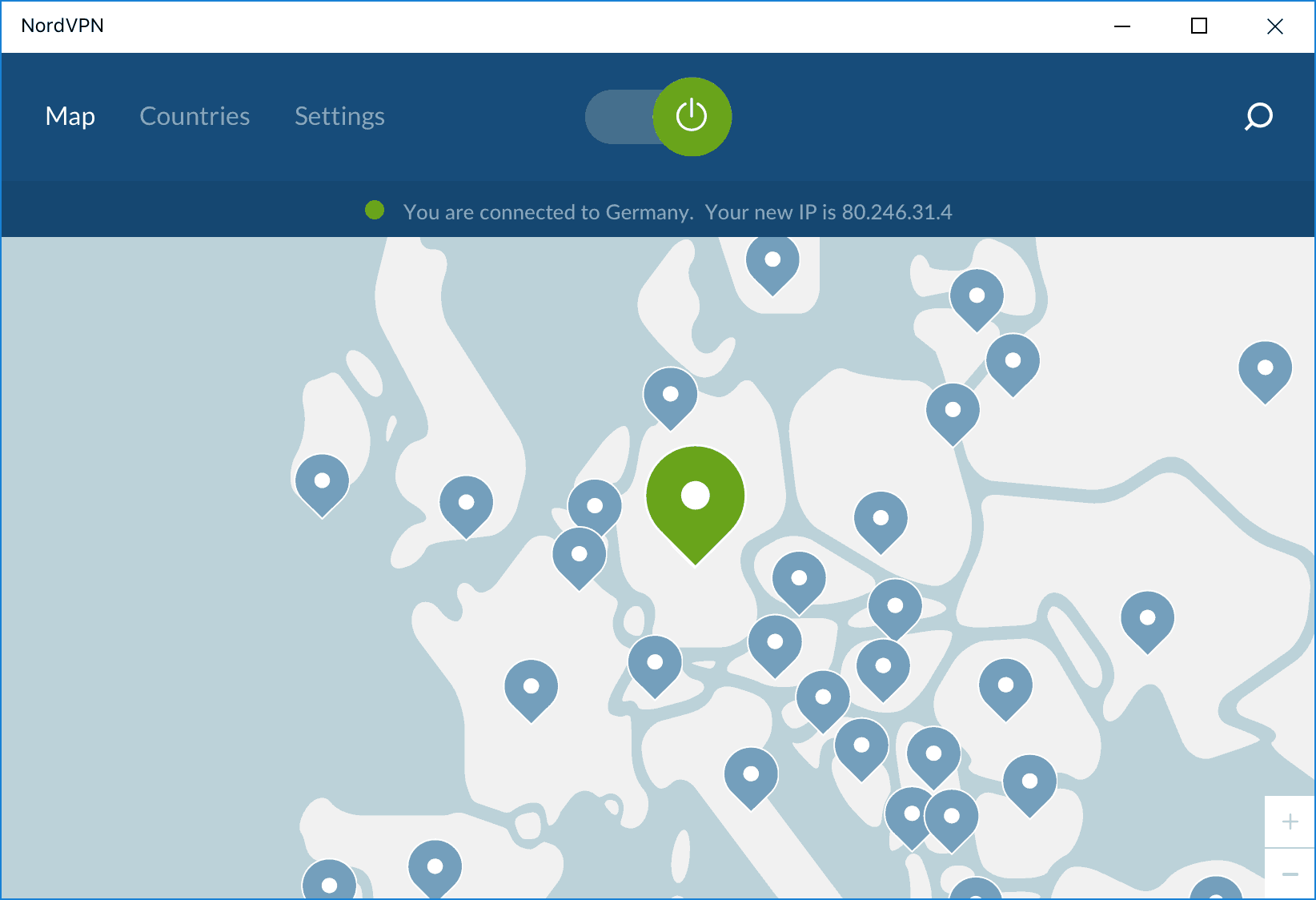 NordVPN - You are connected to Germany