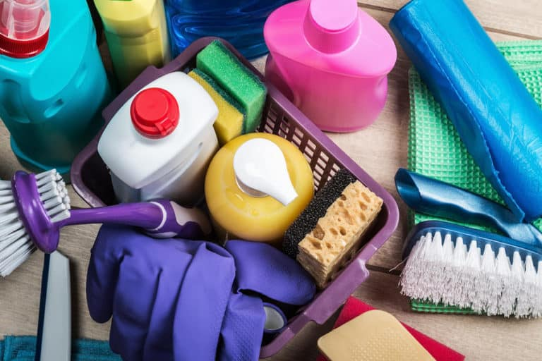 Cleaning supplies and detergent