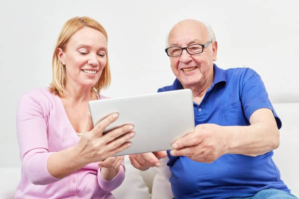 Seniors stay connected with video chat