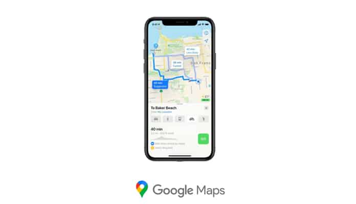 Route Tracking Apps: Google Maps
